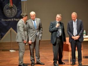 Sindaco e Rettore con il premio Nobel Michael Spence